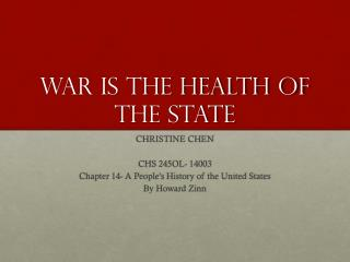 War is the health of the state