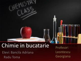Chimie  in  bucatarie