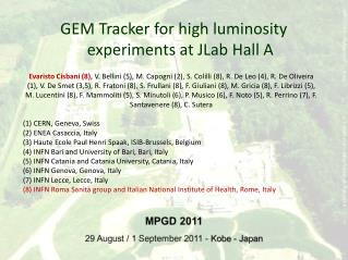 GEM Tracker for high luminosity experiments at JLab Hall A
