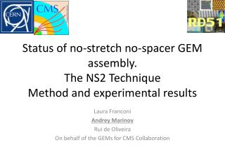 Status of no-stretch no-spacer GEM  assembly.  The  NS2 Technique Method and experimental results