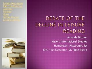 Debate of the Decline in Leisure Reading