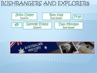 Bushrangers and Explorer s