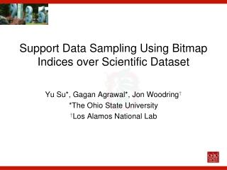 Support Data Sampling Using Bitmap  Indices over Scientific Dataset