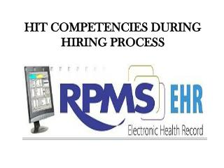 HIT COMPETENCIES DURING HIRING PROCESS