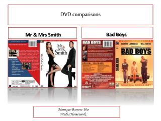 DVD comparisons