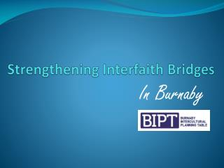 Strengthening Interfaith Bridges