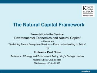 The Natural Capital Framework