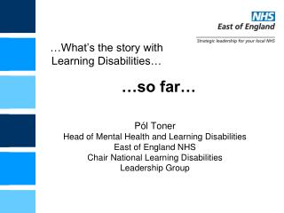 What s the story with Learning Disabilities