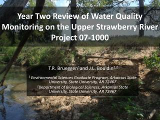 Year Two Review of Water Quality Monitoring on the Upper Strawberry River  Project 07-1000