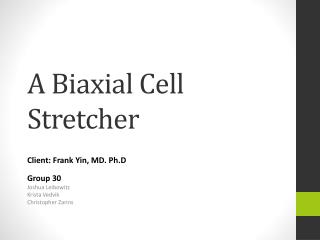 A Biaxial Cell Stretcher