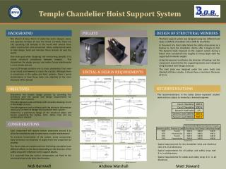 Temple Chandelier Hoist Support System
