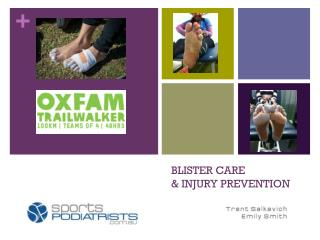 BLISTER CARE  & INJURY PREVENTION