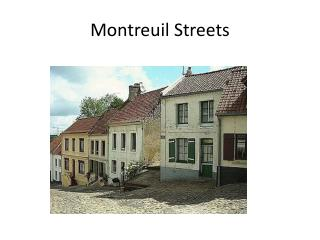 Montreuil Streets