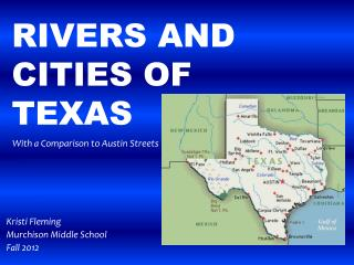 Rivers and cities of Texas