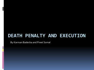 Death Penalty And Execution