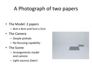 A Photograph of two papers