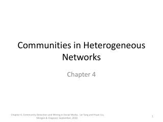 Communities in Heterogeneous Networks