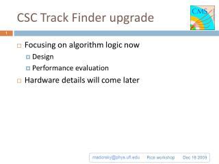 CSC Track Finder upgrade
