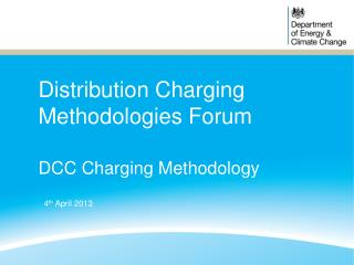 Distribution Charging Methodologies Forum