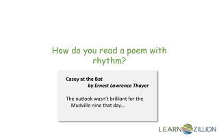 How do you read a poem with rhythm?