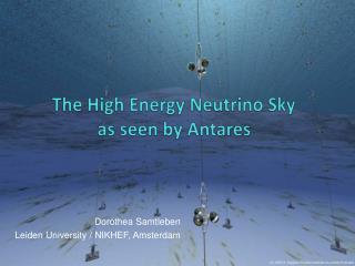 The High Energy Neutrino Sky  as seen by  Antares