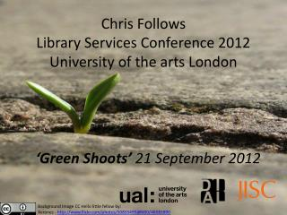 Chris  Follows Library Services Conference 2012 University of the arts  London