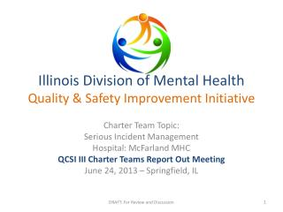 Illinois Division of Mental Health Quality & Safety Improvement Initiative