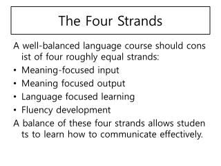 The Four Strands