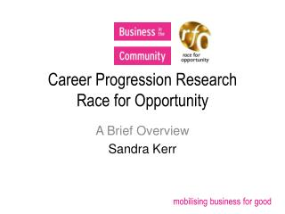 Career Progression Research Race for Opportunity