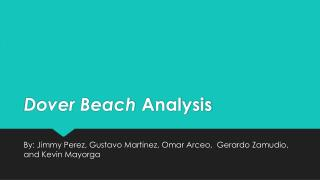 Dover Beach  Analysis