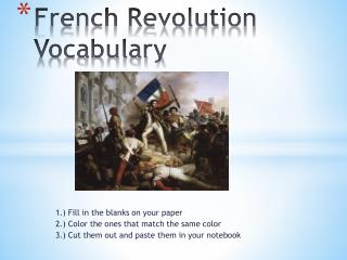 French Revolution Vocabulary