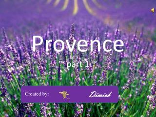 Provence part 1