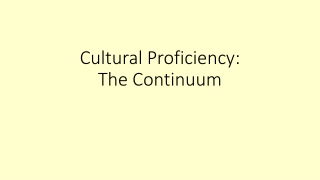 Culturally Proficient Educational Practices