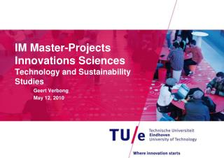 IM Master-Projects  Innovations Sciences Technology and Sustainability Studies