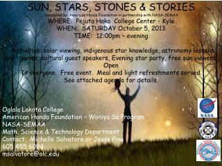 SUN, STARS, STONES & STORIES