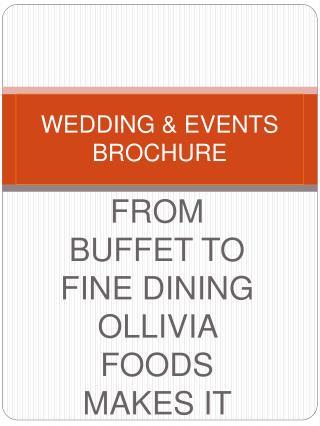WEDDING  EVENTS BROCHURE