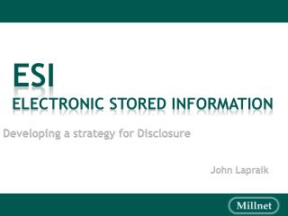 Developing a strategy for Disclosure