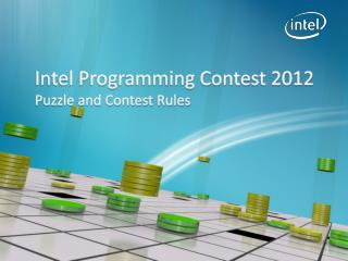 Intel Programming Contest 2012 Puzzle and Contest Rules