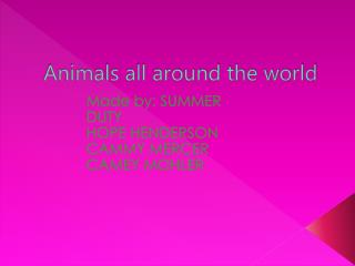 Animals all around the world