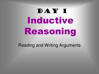 Day 1 Inductive Reasoning