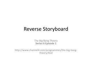 Reverse Storyboard