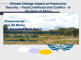 Climate Change impact on Pastoralist Security   Food