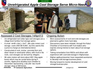 Unrefrigerated Apple Cool Storage Serve Micro-Need