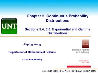 Jiaping  Wang Department of Mathematical Science  03/25/2013, Monday