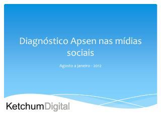 Diagnóstico  Apsen  nas mídias sociais