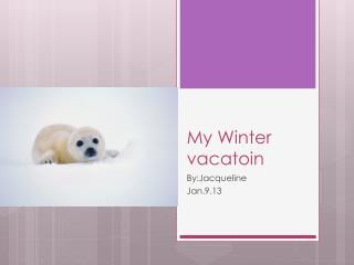 My Winter  vacatoin