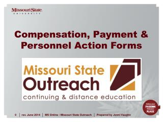 Compensation, Payment &  Personnel Action Forms