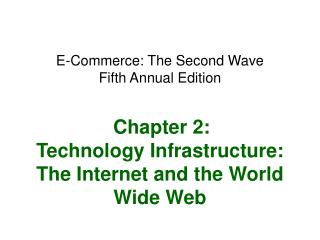 E-Commerce: The Second Wave Fifth Annual Edition    Chapter 2: Technology Infrastructure: The Internet and the World Wid