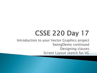 CSSE 220 Day 17