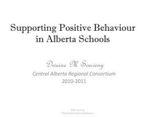 Supporting Positive Behaviour in Alberta Schools